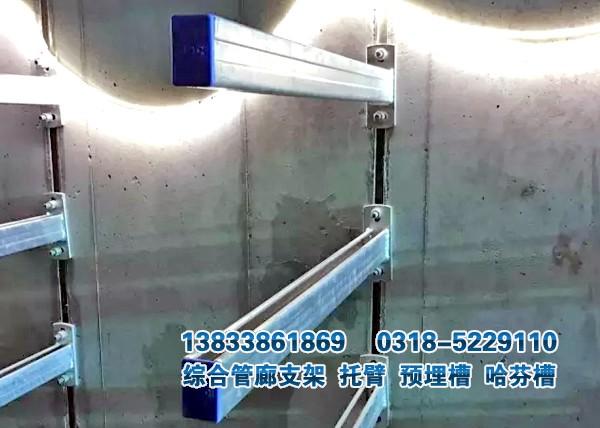 管廊支架托臂与预埋槽的安装